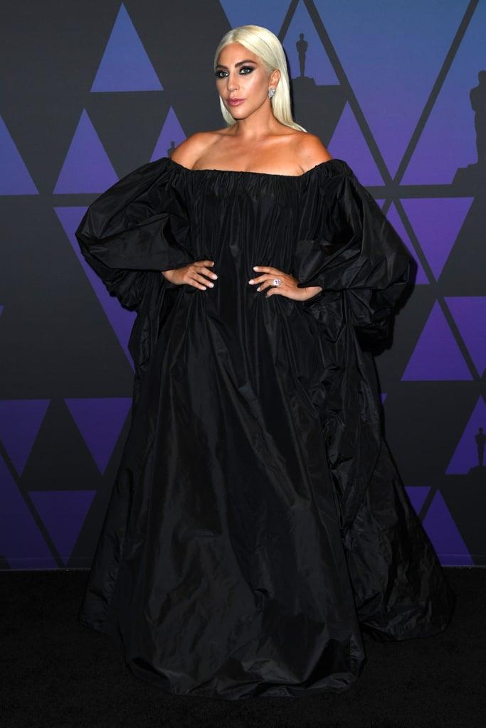 Lady Gaga Valentino Dress at Govenors Awards November 2018