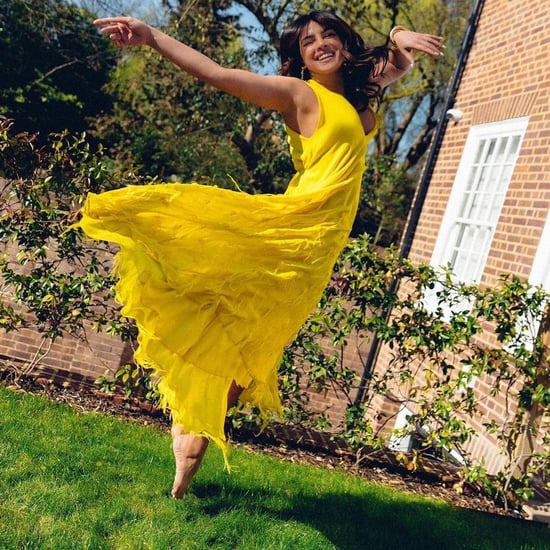 Priyanka Chopra's Yellow Emilio Pucci Dress on Instagram