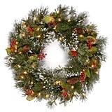 National Tree 24 Inch Wintry Pine Wreath