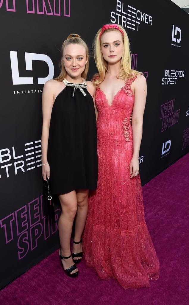 Dakota and Elle Fanning at Teen Spirit Premiere April 2019