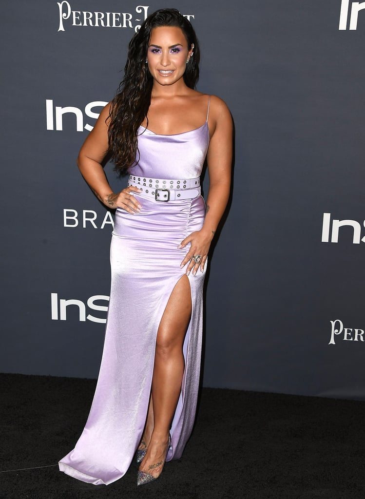 Demi Lovato Purple Alice and Olivia Dress at InStyle Awards ...