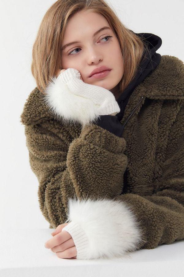 Faux Fur Fingerless Glove