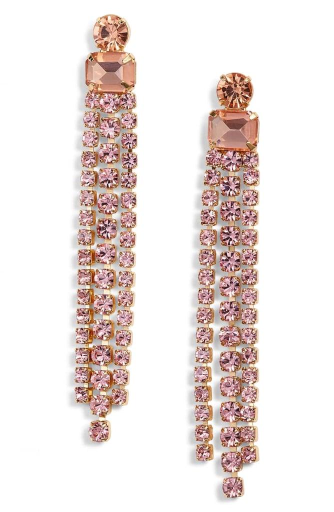 Kate Spade New York Slice of Stone Crystal Fringe Earrings   Best ...