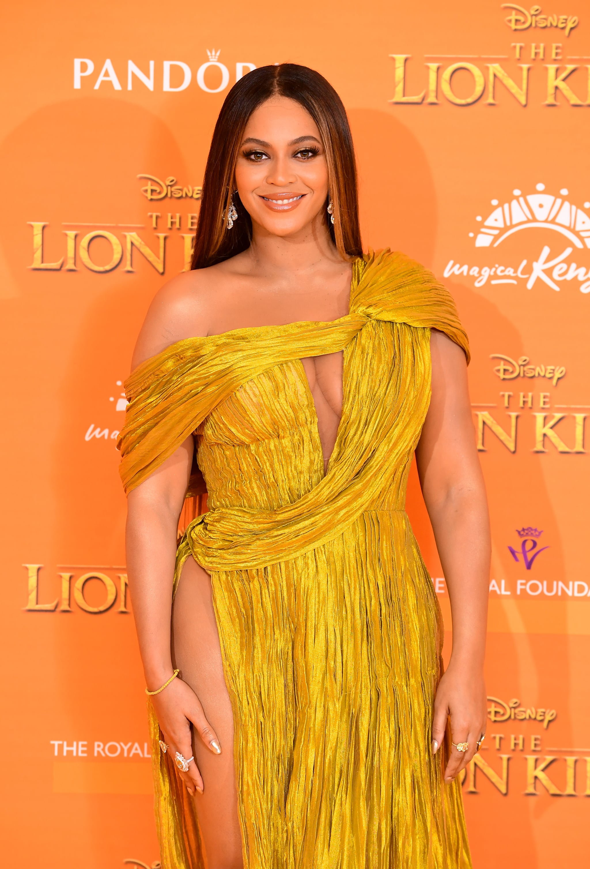 Beyonce attending Disney's The Lion King European Premiere held in Leicester Square, London. (Photo by Ian West/PA Images via Getty Images)