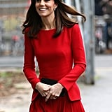 Kate's look was holiday-party-ready.