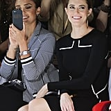 Jessica Alba and Allison Williams were all smiles while taking in the DVF show on Sunday.