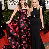 Tina Fey joined Amy Poehler on the red carpet before they took on hosting duties.