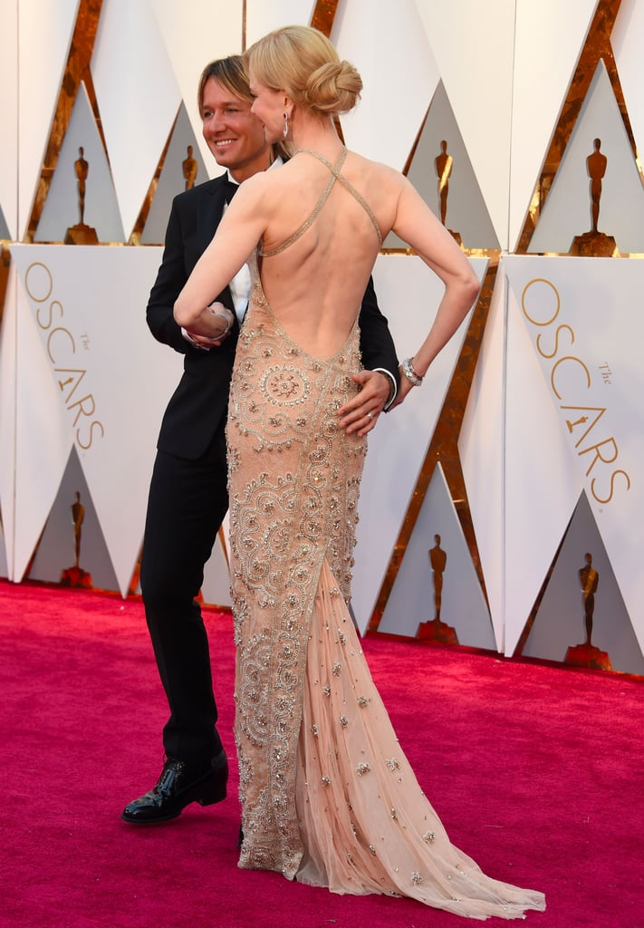 Nicole Kidman and Keith Urban at the 2017 Oscars