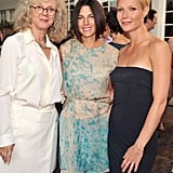 Gwyneth Paltrow, Jessica Seinfeld, and Blythe Danner at the Baby Buggy benefit dinner.
