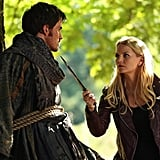 When Emma and Hook first meet, she knows he's trouble and ties him to a tree. She definitely knows how to make a first impression.