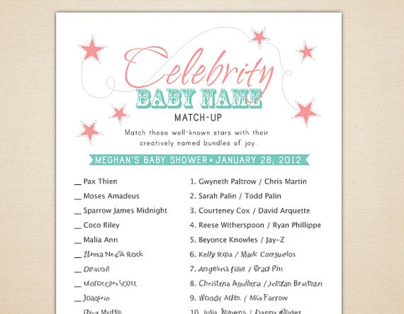This is a graphic of Celebrity Baby Name Game Printable regarding nautical