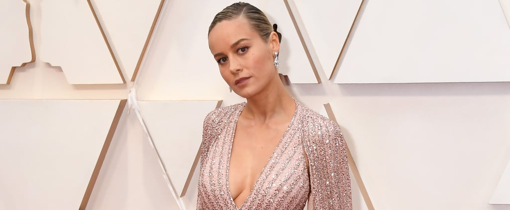 Brie Larson's Celine Cape Dress Oscars 2020 | Photos