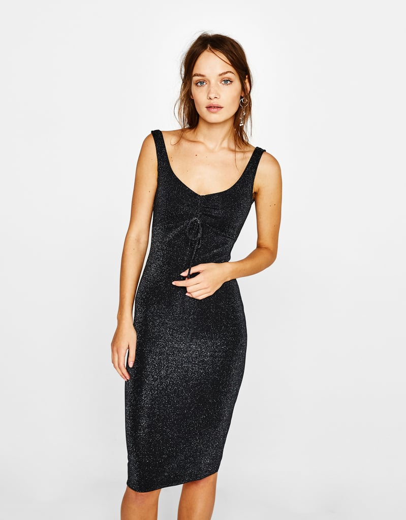 Bershka Metallic Thread Mini Dress (£20)