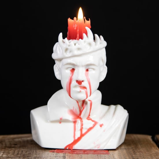 Game of Thrones Bleeding Joffrey Candle on Firebox