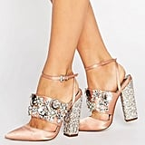 ASOS Papaya Embellished Heels