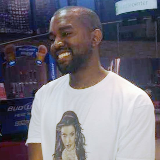 Kanye West Wearing Kim Kardashian Yeezus Shirt