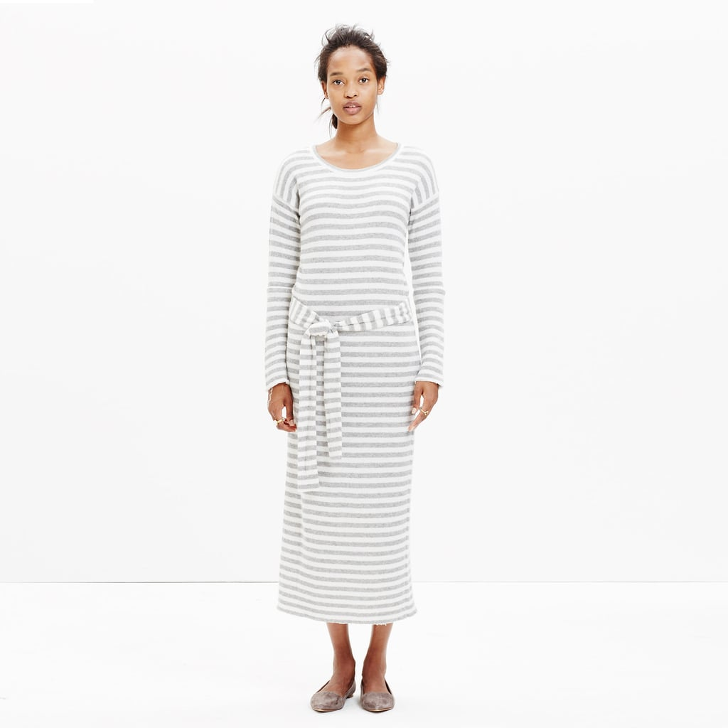 Madewell Striped Tie Sweater-Dress ($70, originally $148)