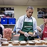 Making sandwiches with government employees in 2013.