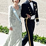 Queen Silvia and Prince Carl Philip of Sweden arrived together.