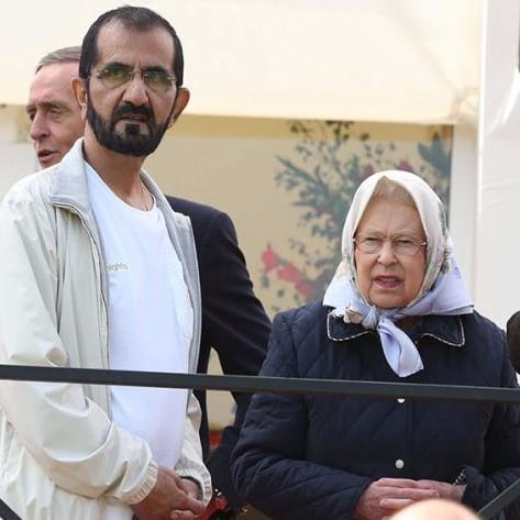 UAE's Sheikh Mohammed Dresses Casually With Queen Elizabeth