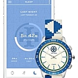 Tory Burch The Collins Hybrid Woven Strap Smart Watch Set