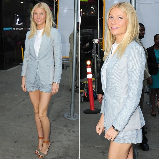 Gwyneth Paltrow Wearing Shorts Suit