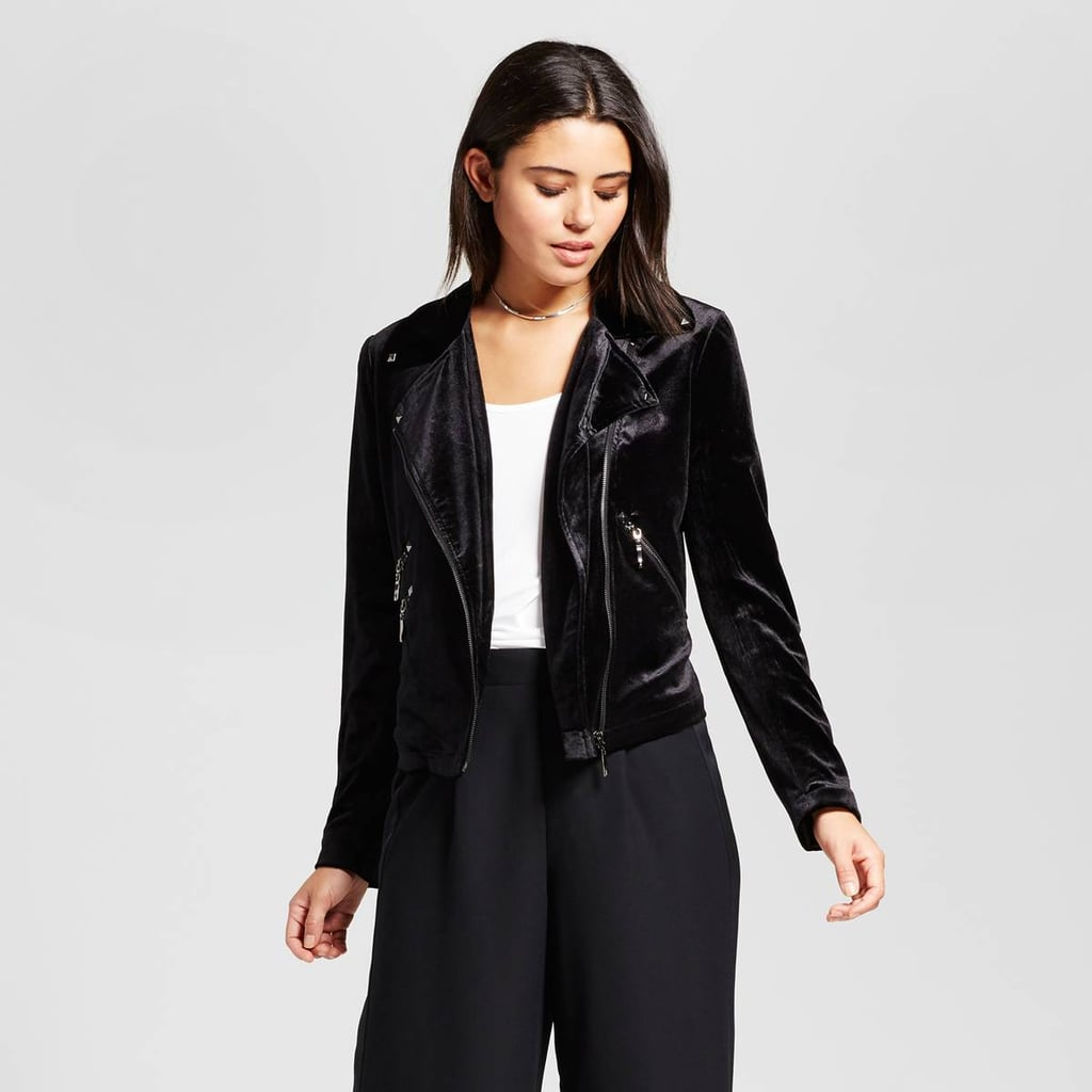 Bagatelle Collection Velvet Moto Jacket