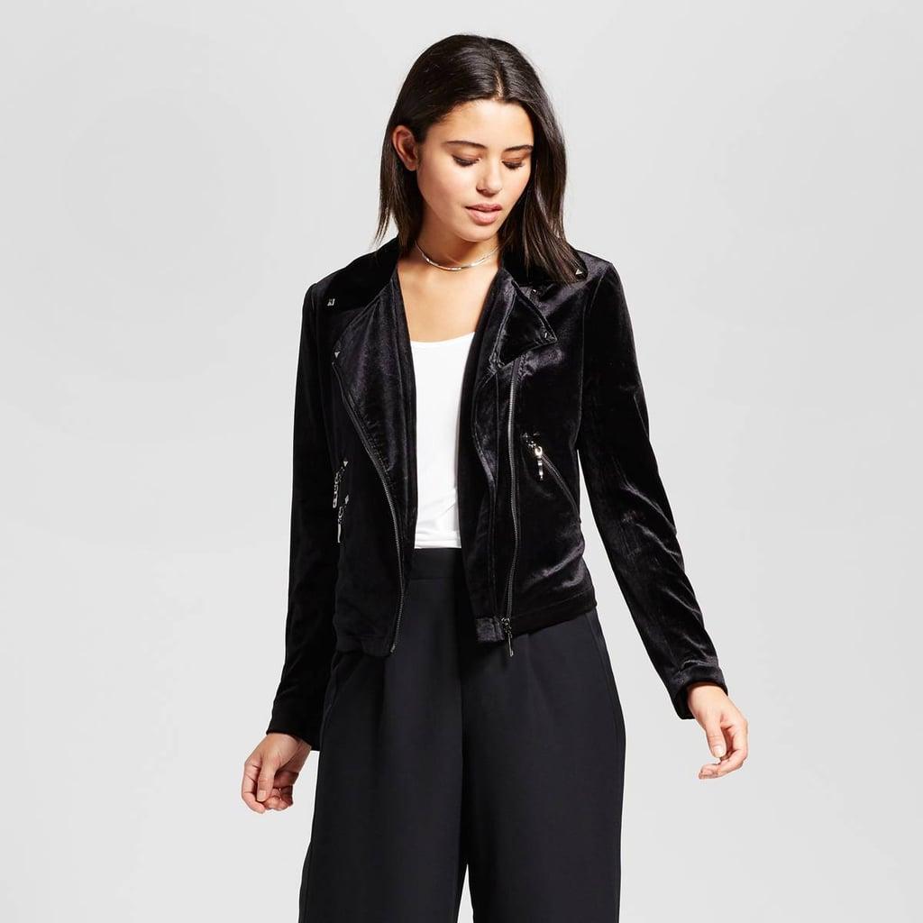 Bagatelle Collection Velvet Moto Jacket