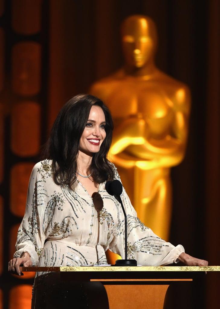 Angelina Jolie Elisabetta Franchi Dress Governors Awards
