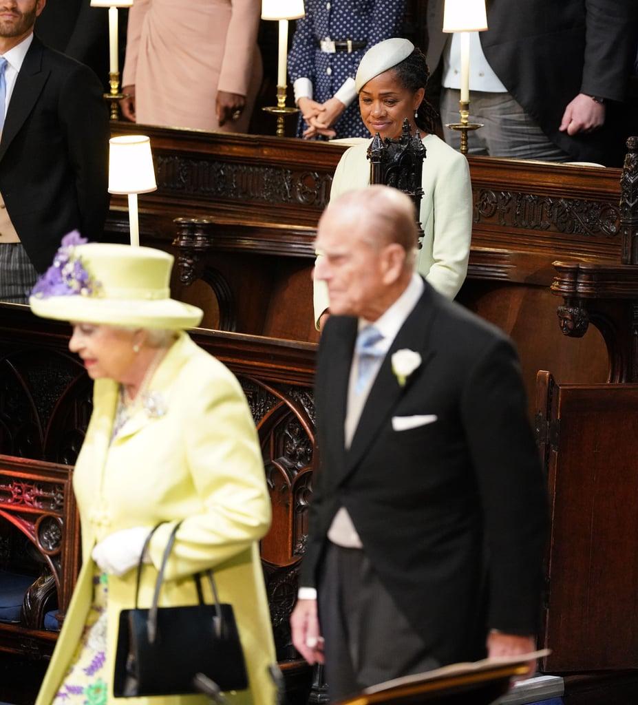 كانت هي الفرد الوحيد من عائلة ميغان الذي يحضر حفل الزفاف في شهر مايو الفائت.