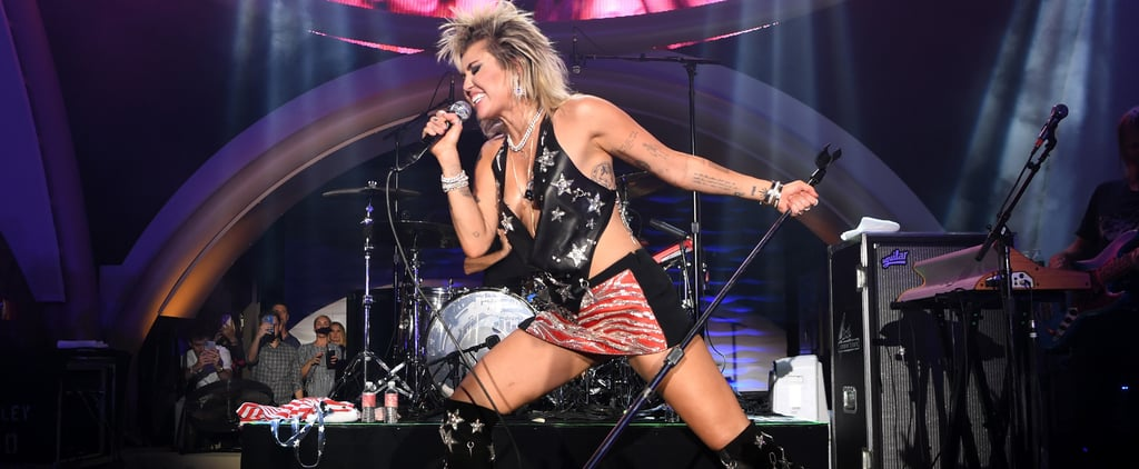 Miley Cyrus's Roberto Cavalli American Flag Outfit on July 4