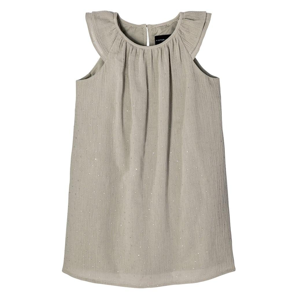 Toddler Girls' Sage Green Cap Sleeve Glitter Dot Peasant Dress ($20)