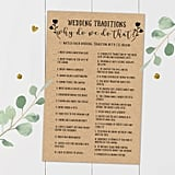 Wedding Traditions Printable Guessing Game