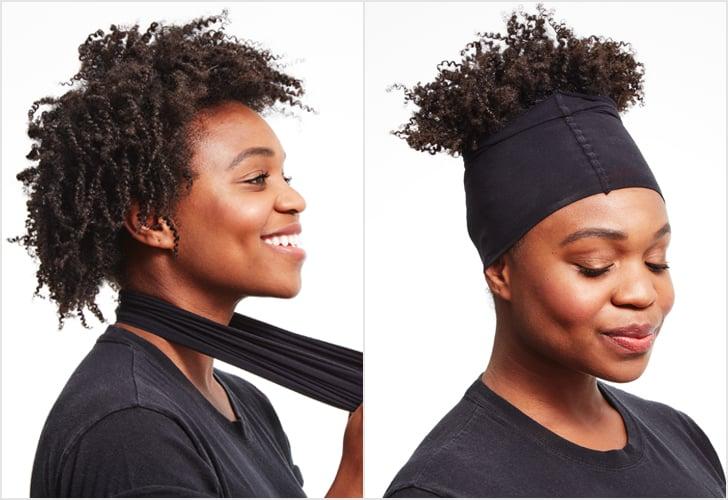32e377f48da DIY a Stocking Cap to Stretch Curls