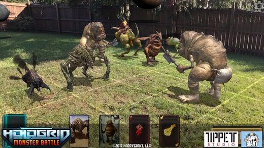 HoloGrid Monster Battle