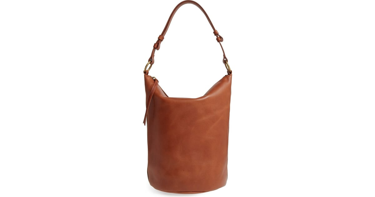 b1b5a07b40d4 Consider this Madewell O-Ring leather bucket bag ( 198) a classic ...