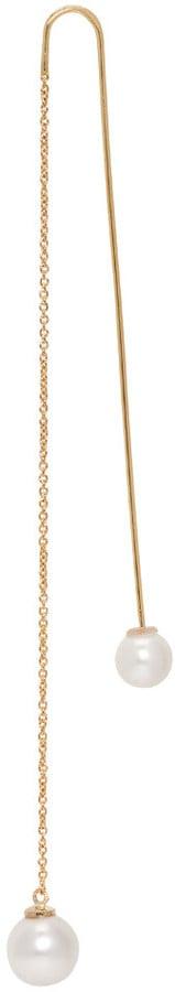 Delfina Delettrez Gold Fishing For Compliments Earring ($880)