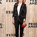 We have a total girl crush on Sophia Bush's borrowed-from-the-boys Smythe suiting.
