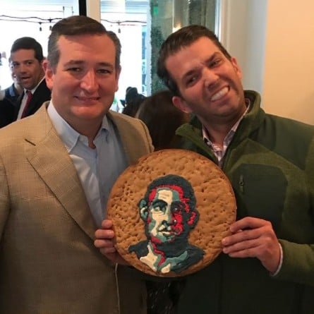 Donald Trump Jr., Ted Cruz Obama Birthday Cookie Instagram