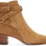 Saint Laurent Tan Suede Blake Ankle Boots ($995)