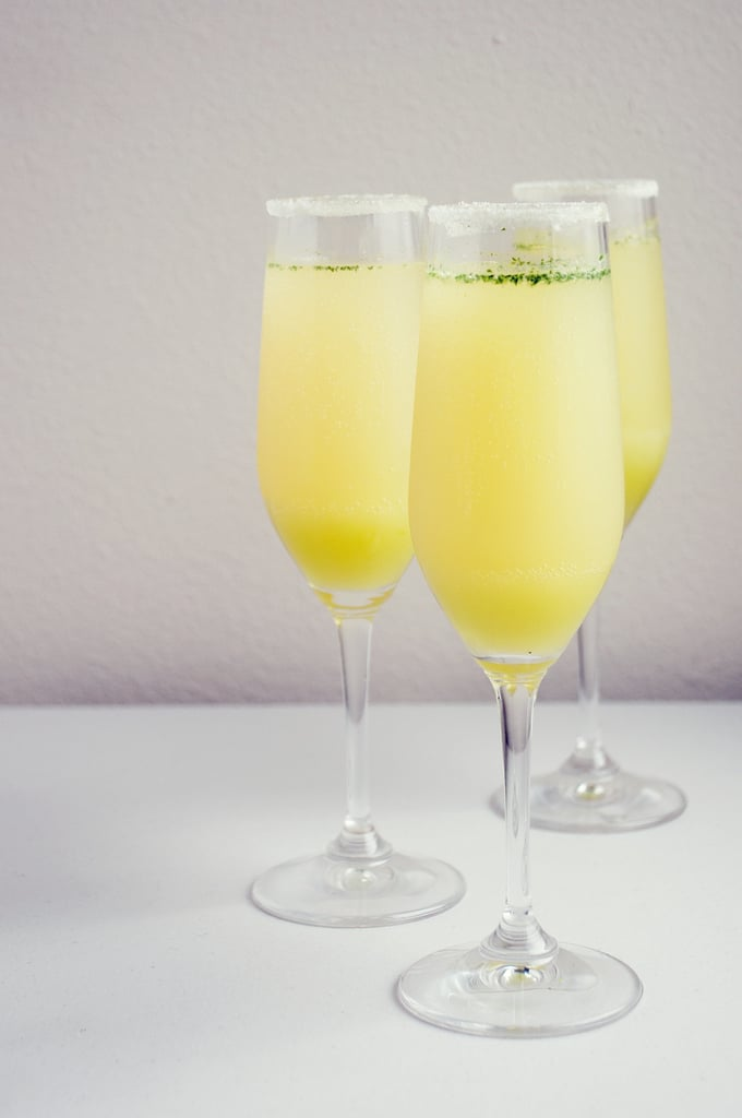 Limoncello-Mint Champagne Cocktail