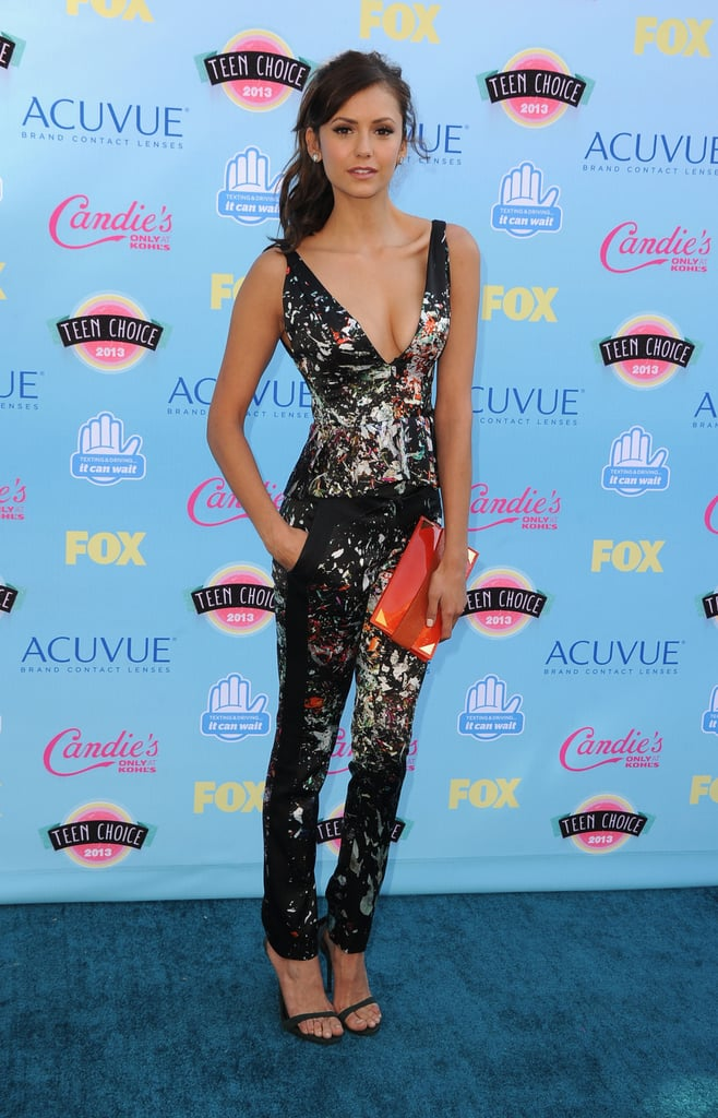 Nina Dobrev attended the 2013 Teen Choice Awards.