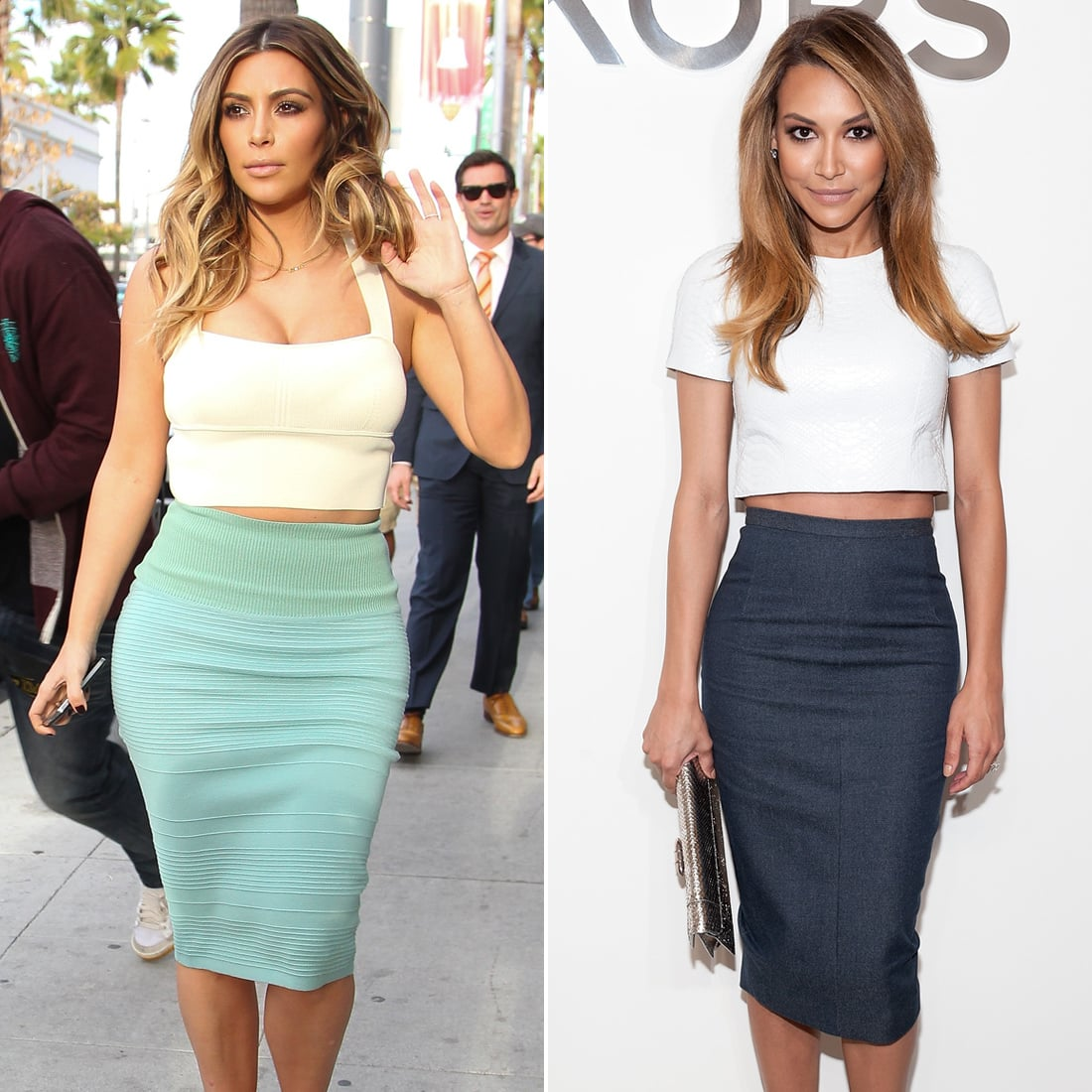 crop top long skirts