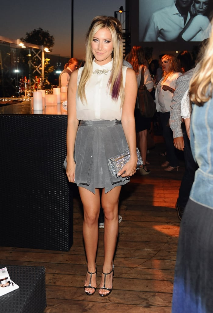 Ashley Tisdale mingled at InStyle's summer celebration in LA.