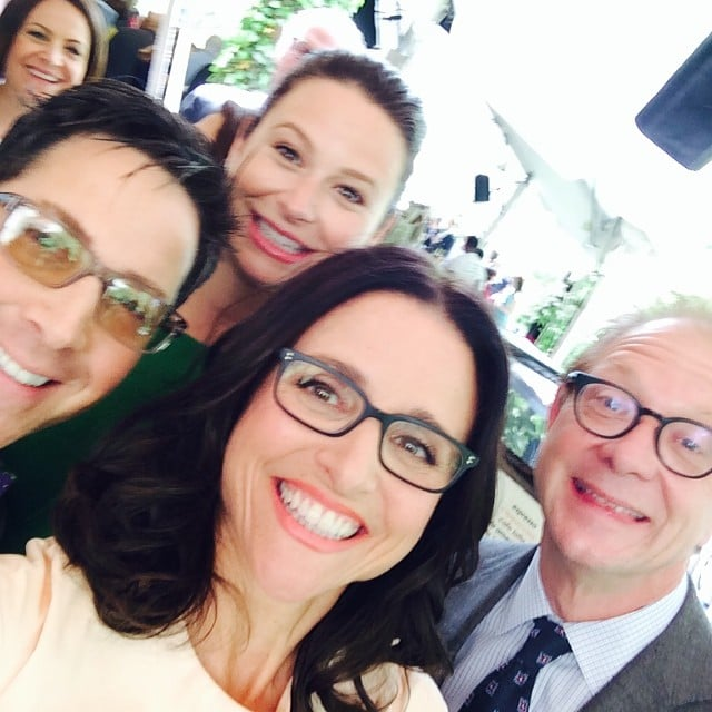Julia took a selfie with Scandal stars Dan Bucatinsky, Katie Lowes, and Jeff Perry. Source: Instagram user officialjld