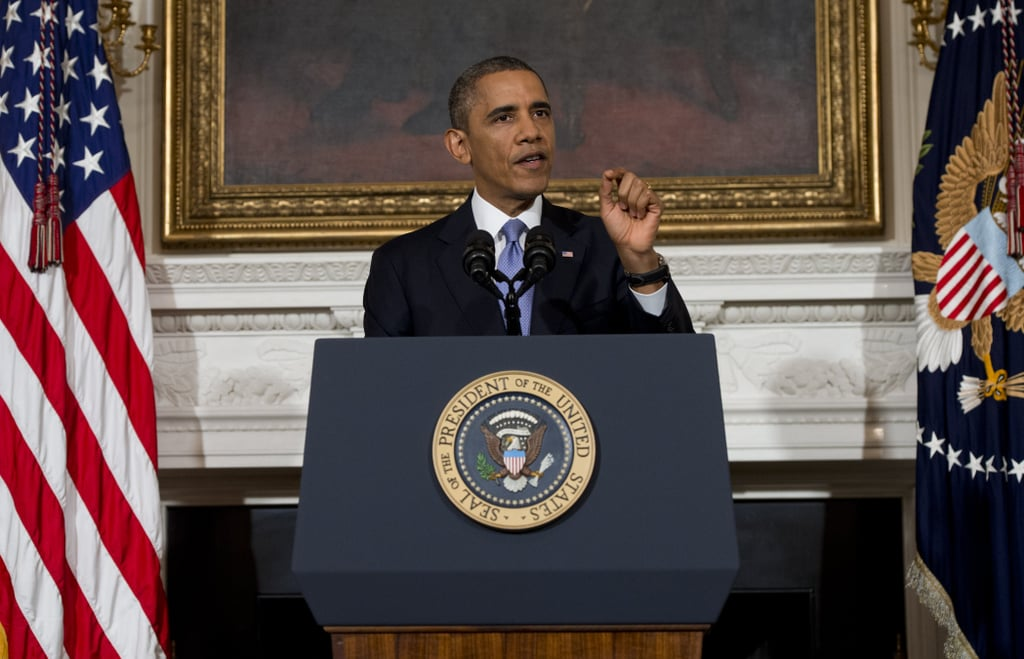 President Obama addressed the nation after Congress came together to reopen the government.