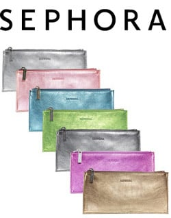 12 Days of Beauty Giveaway: Philosophy Candy Cane Lip Shine and Sephora Brand Metallic Flat Clutch