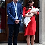 Kate and William After Welcoming Prince Louis