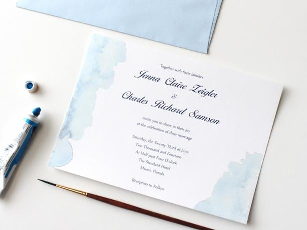Summer Watercolor Wedding Invitation