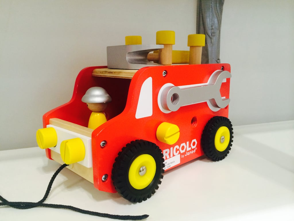 Janod introduced the coolest new fire truck pull toy for toddlers.